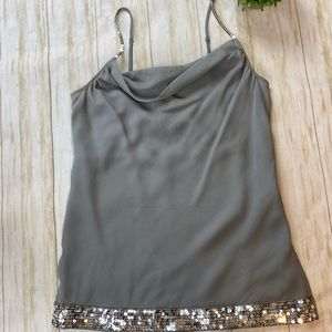The Limited Gray Sequin Tank Top